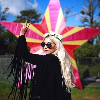 jacket nastygal moto black suede suede fringes festival outfit style 36683