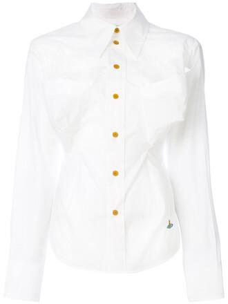 shirt oversized women spandex white cotton top