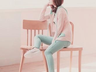 jacket pink pastel pale asian fashion kawaii girly girl shirts mint