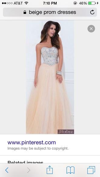 dress prom prom dress beige