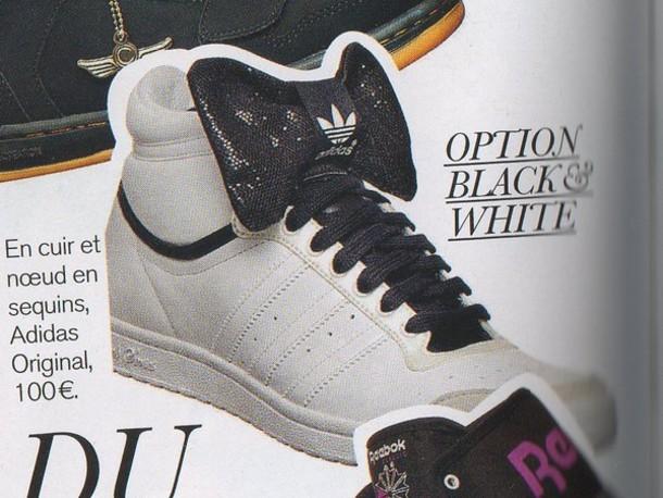 white shoes black shoes