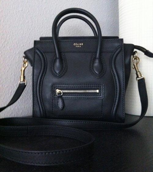 Black Celine Nano Tote bag Cross body Shoulder bag - free shipping g Corner Stop g