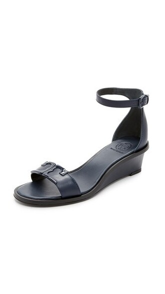 sandals wedge sandals navy bright shoes