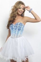 dress,blue,bedazzled,rhinestones,blue dress,white dress,cute dress,sparkle,prom dress,white short dress,pretty,cute,fabulous,homecoming dress,organza homecoming,short,prom,corset,light blue,blue prom dress,homecoming,winter formal dress,style,sparkly dress,bedazzl,white,cocktail dress,blue and white bedazzled dress,blue jewels corset short homecoming dress,blue rhinestone,bling