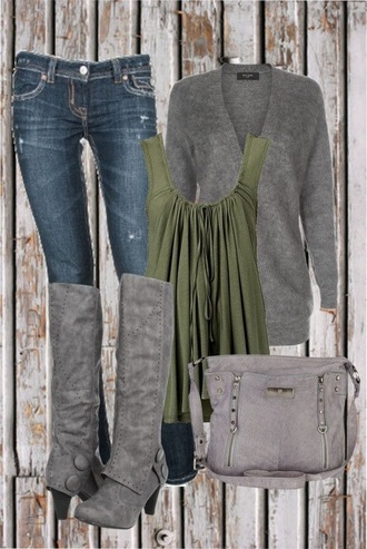 shoes boots grey cute fall outfits