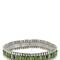 Wappo green agate stretch bracelet