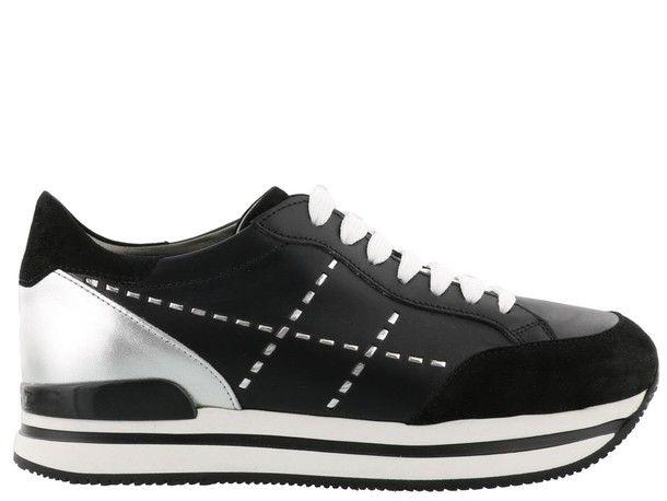 Hogan sneakers silver black shoes