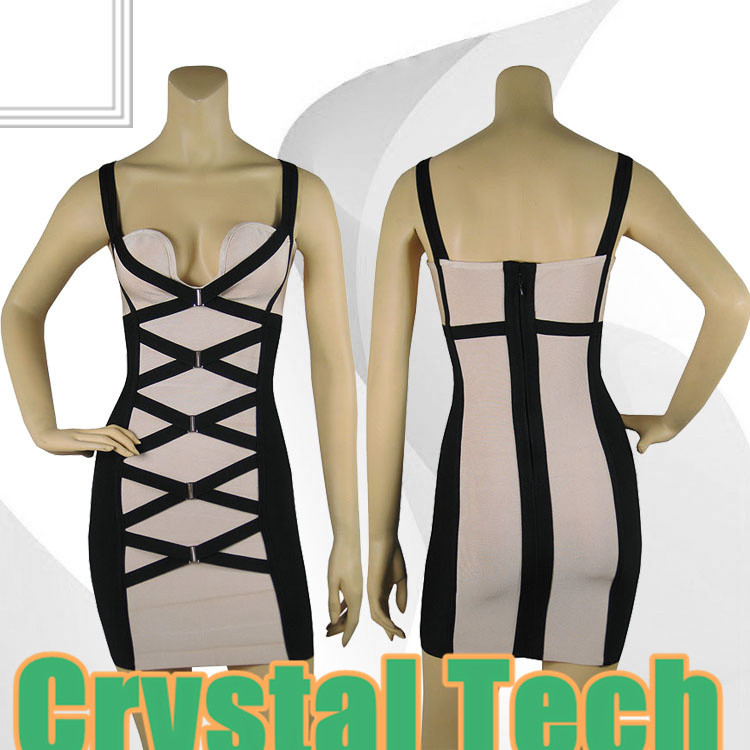 2013 new arrival women's 'Camille' Black & Blush Corset HL Bandage Dress Kim Kardashian evening dresses dropshipping-in Celebrity-Inspired Dresses from Apparel & Accessories on Aliexpress.com