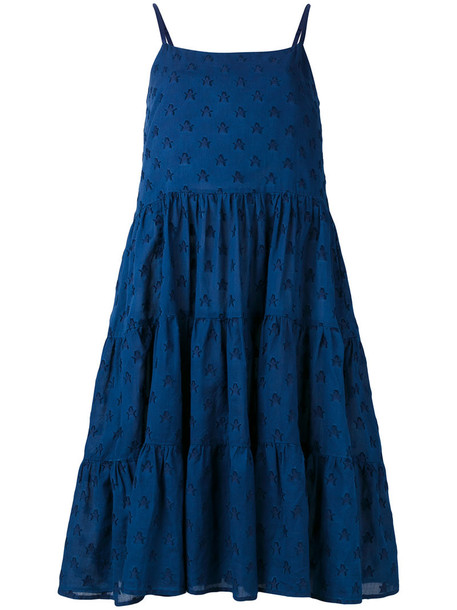 Chinti & Parker dress denim sun women cotton blue
