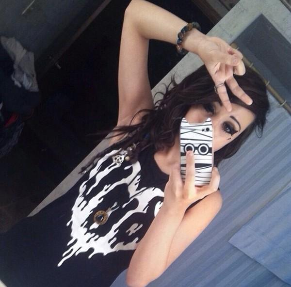 goth pastel goth grunge soft grunge sleeveless dark kawaii kawaii kawaii dark lovely jewels shirt