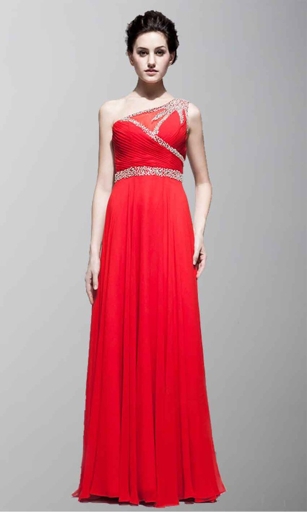 dress prom dress formal dress long prom dress one shoulder dresses red dress red prom dress red