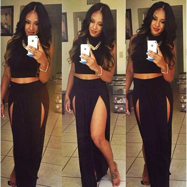 New Popular Trends High Waisted Double Slits Sexy Women Maxi Skirt ...