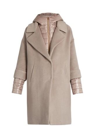 coat soft wool light pink light pink