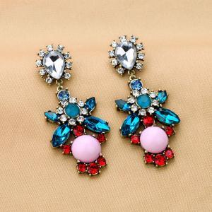 Big Rhinestone Party Earrings 051855 on Luulla