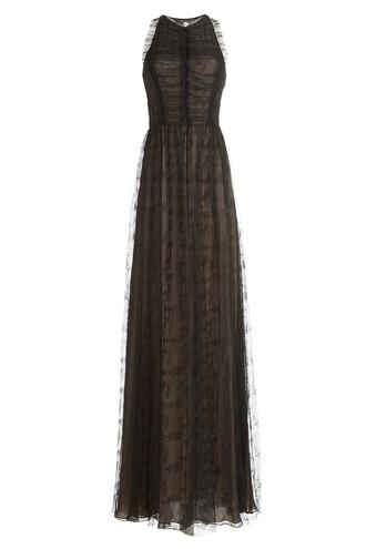 gown lace multicolor dress
