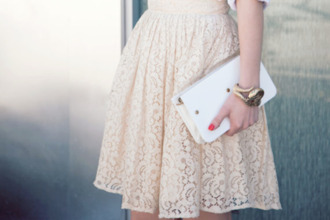 lace skirt lace dress off-white off white floral lace design