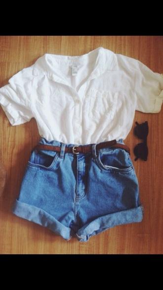 top white white t-shirt
