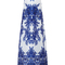 Floral print gazaar gown with watteau back by naeem khan - moda operandi