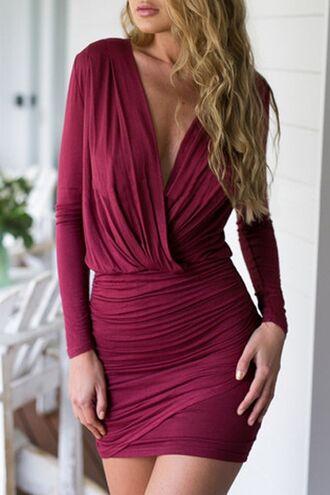 dress wrap dress bodycon dress zaful red red dress red wine