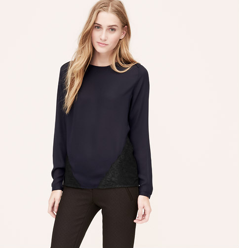 Lace paneled blouse