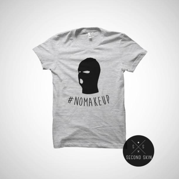 Shirt Second Skin T Shirt Grey T Shirt Chanel T Shirt Tumblr