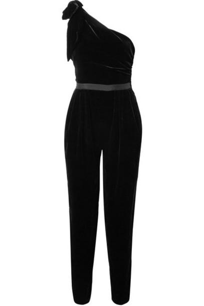 Ulla Johnson jumpsuit black velvet
