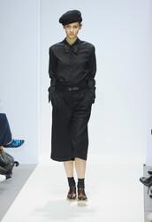pants,top,shirt,runway,fashion week 2016,london fashion week 2016,hat,shoes,fall outfits,Margaret Howell