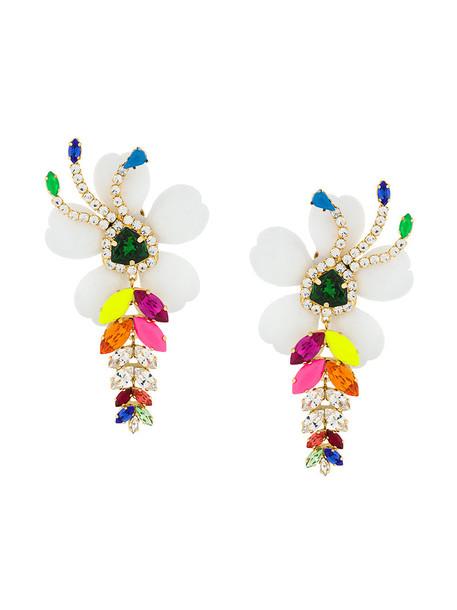 SHOUROUK oversized women earrings pendant floral jewels