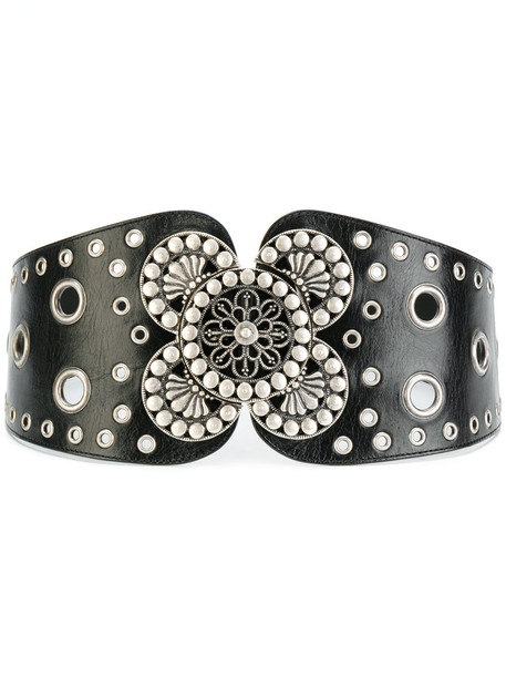 embellished belt waist belt black