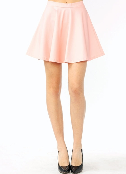 leather pink skirt dress