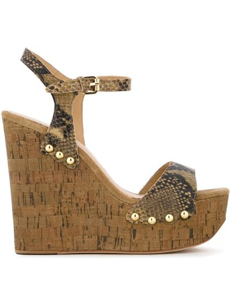 studded sandals wedge sandals nude shoes