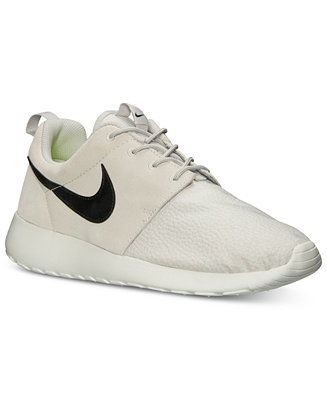 Nike men's roshe run suede casual sneakers from finish line