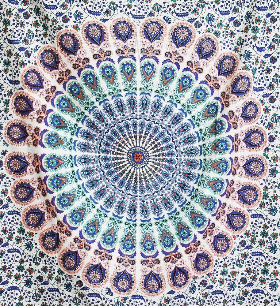 Bohemian tapestry beach mandala throw indian twin wall for Fomic sheet wall hanging
