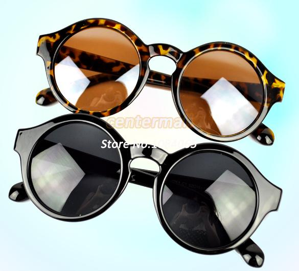 Hot Sale Super Trendy Retro Round Frame Sunglasses Eyewear UV 400 Unisex Plate Frames Black, Leopard 7279-in Sunglasses from Apparel & Accessories on Aliexpress.com