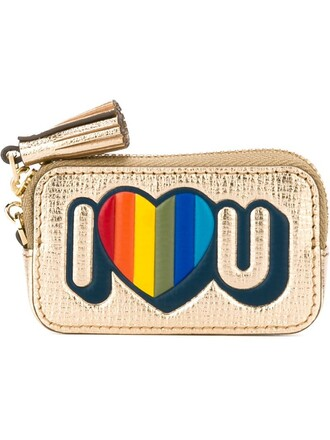 love i love you purse metallic bag