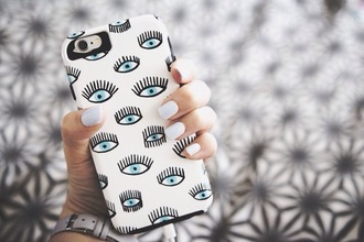phone cover phone iphone white blue eyes