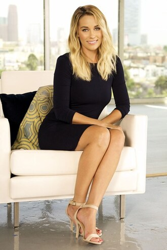 lauren conrad blogger sandals black dress classy