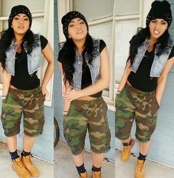 shorts outfit camouflage shorts dope tomboy
