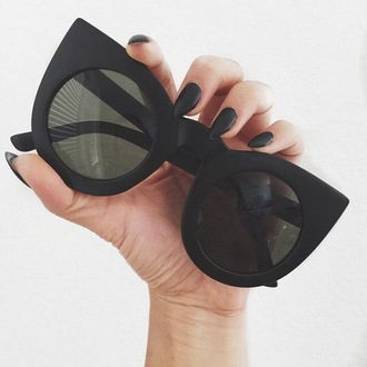 sunglasses black summer matte