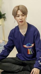 shirt,jimin,jimin bts,blue,spaceship,rainbow