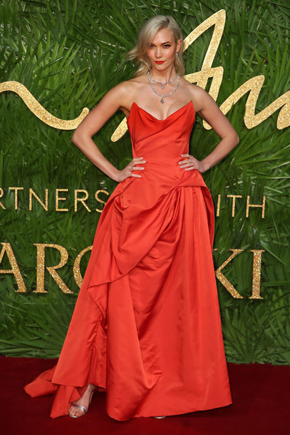 dress red dress red red carpet dress karlie kloss model off-duty gown prom dress bustier dress