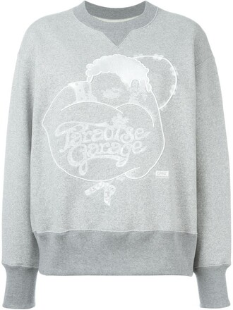 sweatshirt embroidered grey sweater