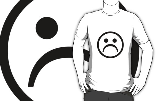 """Sad Boy Face [Black]"" T-Shirts & Hoodies by wilu 