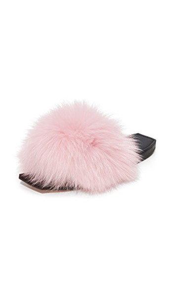 Parme Marin baby fur black pink shoes