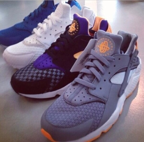 shoes huarache huarache black dark blue orange trainers nike nike air nike sneakers