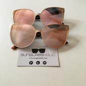 sunglasses,fashion,gold cat eye aviators,cat eye,rose