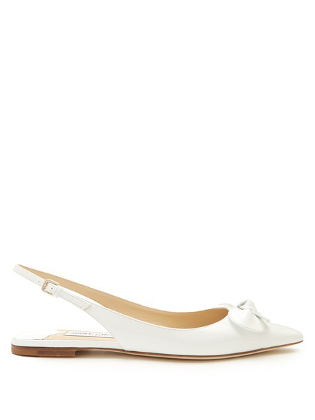 Jimmy Choo flats leather white shoes