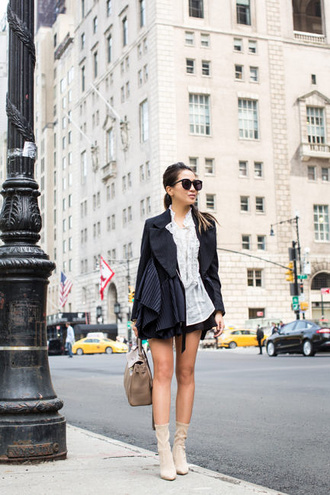 wendy's lookbook blogger jacket blouse shorts bag shoes sunglasses coat dress boots handbag