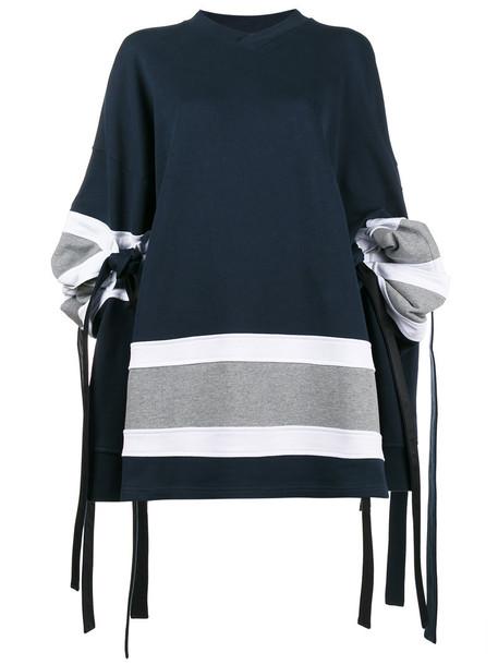 Y / Project sweatshirt oversized women cotton blue sweater