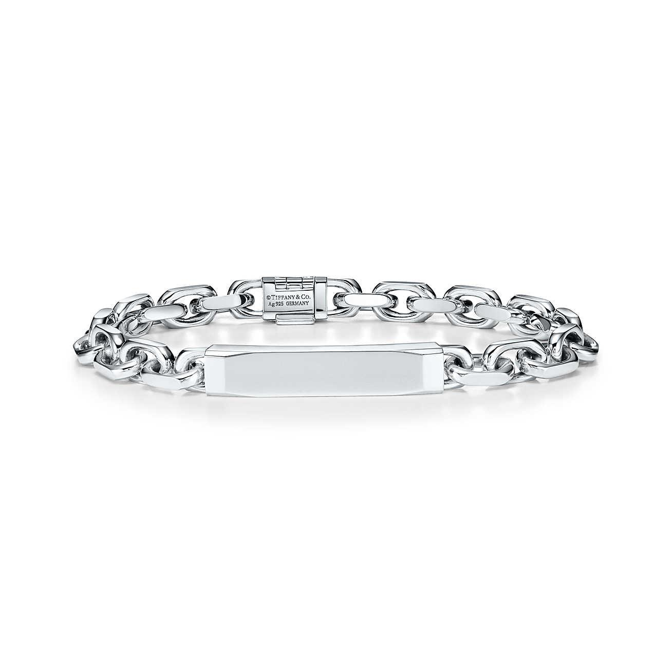 Tiffany 1837® Makers ID chain bracelet in sterling silver, medium